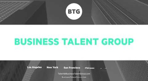 Joining the Business Talent Group Network