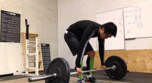 Olympic Weightlifting - Clean & Jerk practice November 15, 2013