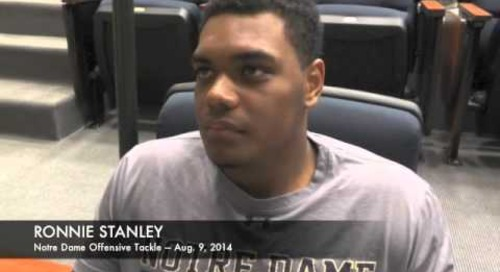 Notre Dame OL Ronnie Stanley - Aug. 9, 2014
