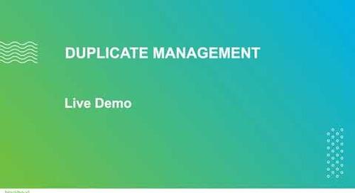 Duplicate Management in Raiser's Edge NXT