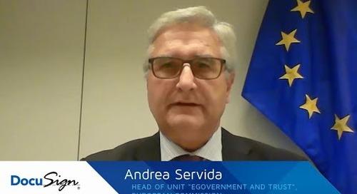 eIDAS: Interview mit Andrea Servida, Head of Unit «eGovernment & Trust» bei der European Commission