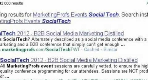 MarketingProfs SocialTech 2012: Search story