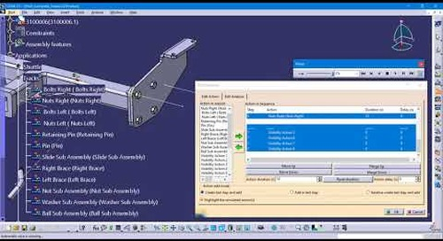 Creating a Sequence (and shuttle) in CATIA's Fitting Simulator Workbench