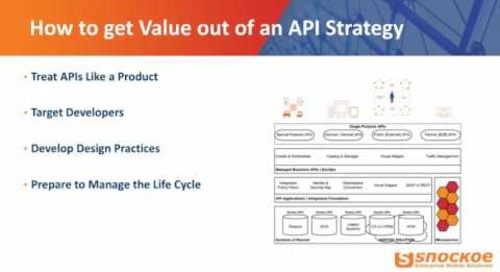 How to get value out of an API strategy