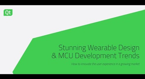 Stunning Wearable Design & MCU Development Trends {On-demand webinar}