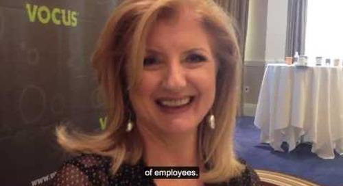 Arianna Huffington Talks to MarketingProfs at Demand Success Vocus Conference2013