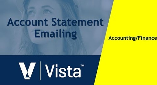 Emailing Account Statements