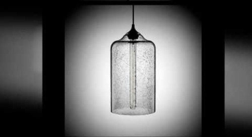 Modern Pendant Lighting in Effervescent Blown Glass