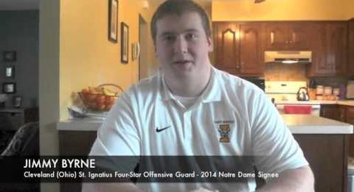 Jimmy Byrne Talks Notre Dame