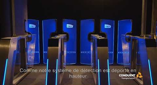 Le Portillon à détection 3D de Conduent Transportation
