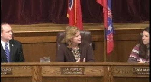 Bristol Tennessee City Council Meeting - January 2017