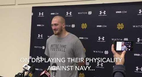 Liam Eichenberg Navy-Week Press Conference