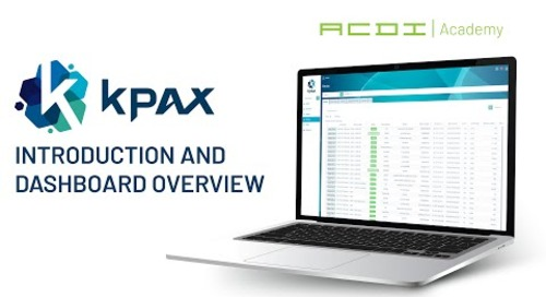 KPAX Training | Introduction and Dashboard Overview