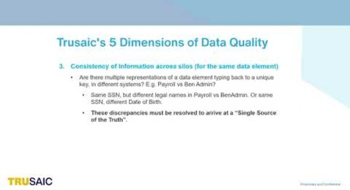 What are the 5 Dimensions of Data Quality - Webinar - Trusaic