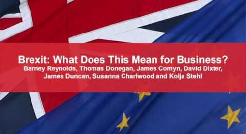 Brexit: What Does This Mean for Business?