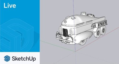 Modeling the Herkimer Battle Jitney from Mystery Men Live in SketchUp!