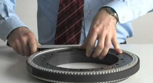 Geared slewing rings