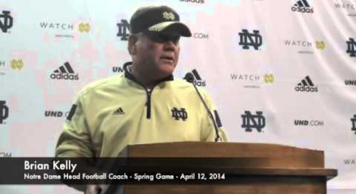 Brian Kelly Talks After Notre Dame Spring Game
