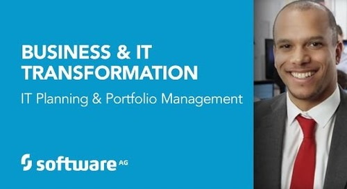 Business & IT Transformation – IT Planning and Portfolio Management