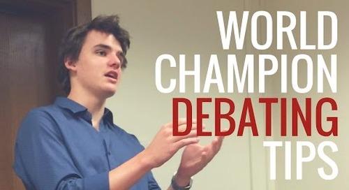 Inside the Mind of a World-Class Debater. Pt. 1