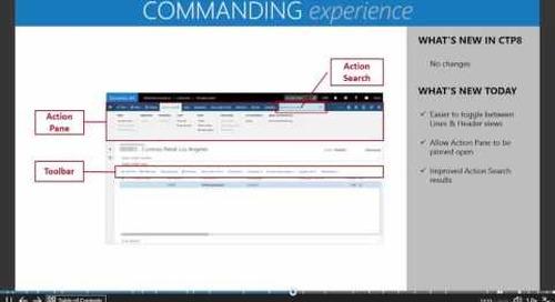 Microsoft Dynamics AX7 - The New Commanding Experience