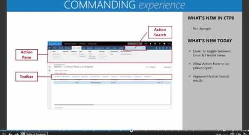 Microsoft Dynamics AX7 - The New Commanding Experience