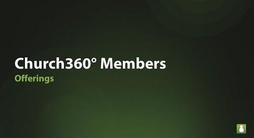 Church360° Members: Offerings Webinar