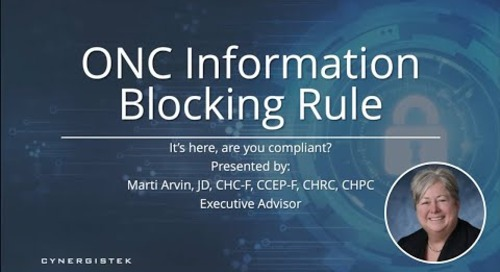 ONC Information Blocking Rule | California County-Based Agencies - July 2021