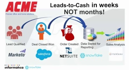 Snowflake and Informatica - Lead to Cash Demo