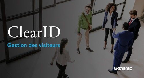 ClearID - Gestion des visiteurs