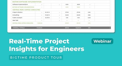 Real-Time Project Insights for Engineers | BigTime Product Tour