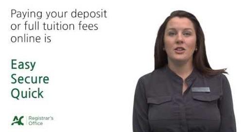 Registrar's Office - Tuition Deposit