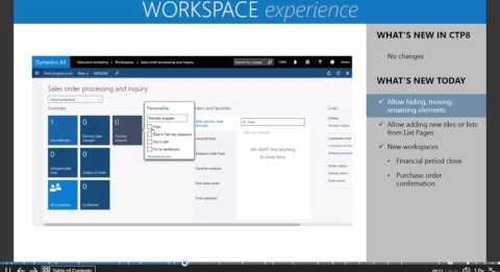 Microsoft Dynamics AX7 - The New Workspace Experience