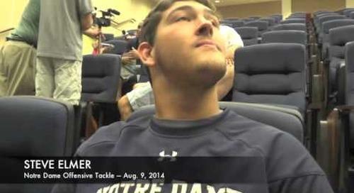 Notre Dame OL Steve Elmer — Aug. 9, 2014