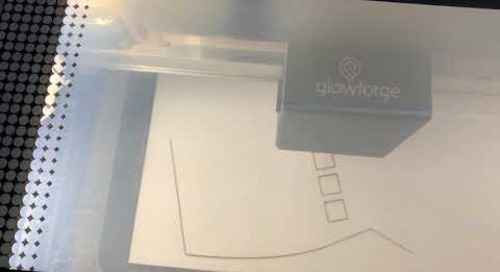The Glowforge in action