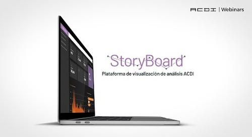 StoryBoard: Plataforma de visualización de análisis ACDI | ACDI Webinars