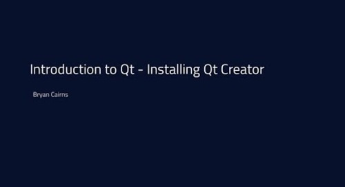 Introduction to Qt - Download and Installation {tutorial}