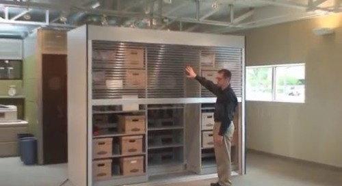 High Capacity Security Cabinets with Rolling Doors Shelves