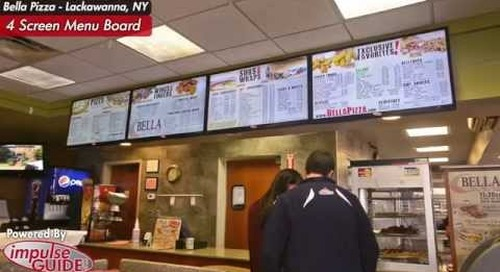 Bella Pizza - Lackawanna, NY Digital Menu Boards