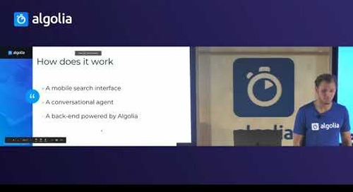 Building conversational search on iOS - Robert Mogos, Algolia