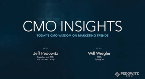 CMO Insights: Will Wiegler, Senior Vice President and CMO, SpringCM