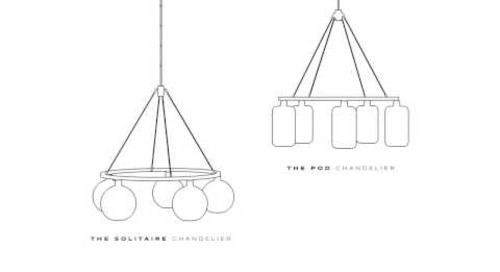 The Solitaire and Pod Modern Chandelier Collection by Niche