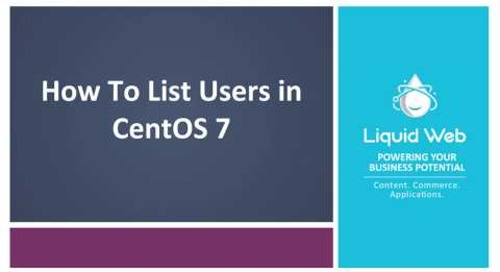 How To List Users in CentOS 7