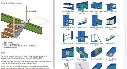 Tekla Structures 2021 - Instructor Side Pane