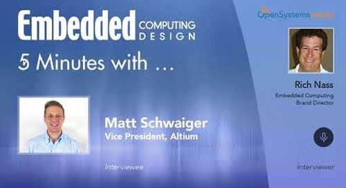 Five Minutes With… Matt Schwaiger, Vice President, Altium