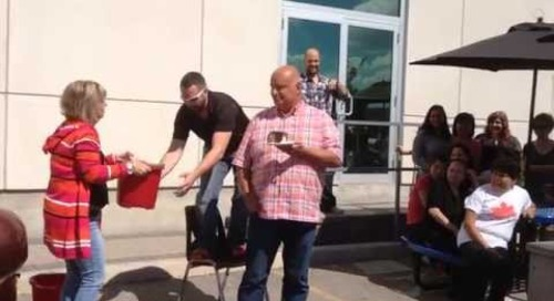 Ice Bucket Challenge - Derrick Milne accepts his nomination!