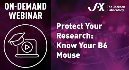 Protect Your Research: Know Your B6 Mouse