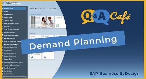 Q&A Café: Demand Planning in SAP Business ByDesign