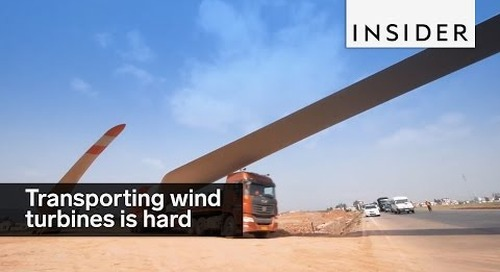 Transporting wind turbines doesn't look easy