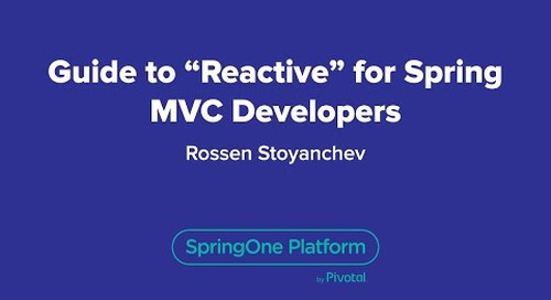 """Guide to """"Reactive"""" for Spring MVC Developers"""